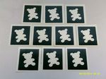 1 - 100  x  Teddy Bear stencils    Great for glitter tattoos / airbrush tattoos  Children in Need